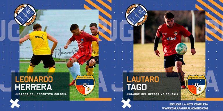 Leonardo Herrera y Lautaro Tago, jugadores del Deportivo Colonia